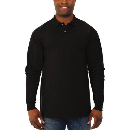 Men's SpotShield Long Sleeve Polo Sport Shirt