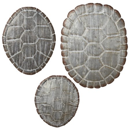 Turtle Shell Decor (CBK Metal 3 Piece Set Washed Galvanized Turtle Shell Wall Decor)