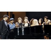 Stevie Wonder Celine Dion Spice Girls Jon Bon Jovi Spike Lee and Eros Ramazzotti on stage Photo Print by Globe Photos LLC