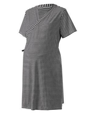 c048bcd6af989 Product Image Jchiup Maternity Wrap Short Sleeve Stripe Labor Robe Nursing  Breastfeeding Sleepwear
