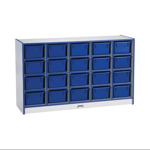 20 Tray Mobile Cubbie With Trays-Color:Teal