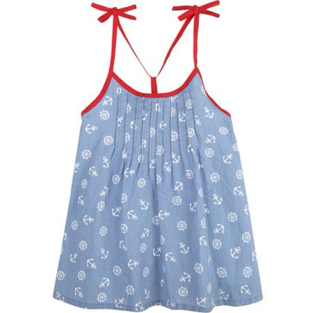 Little Girls' 4-6X Smocked Dress with Shoulder (Childrens Clothing Smocked Dresses)