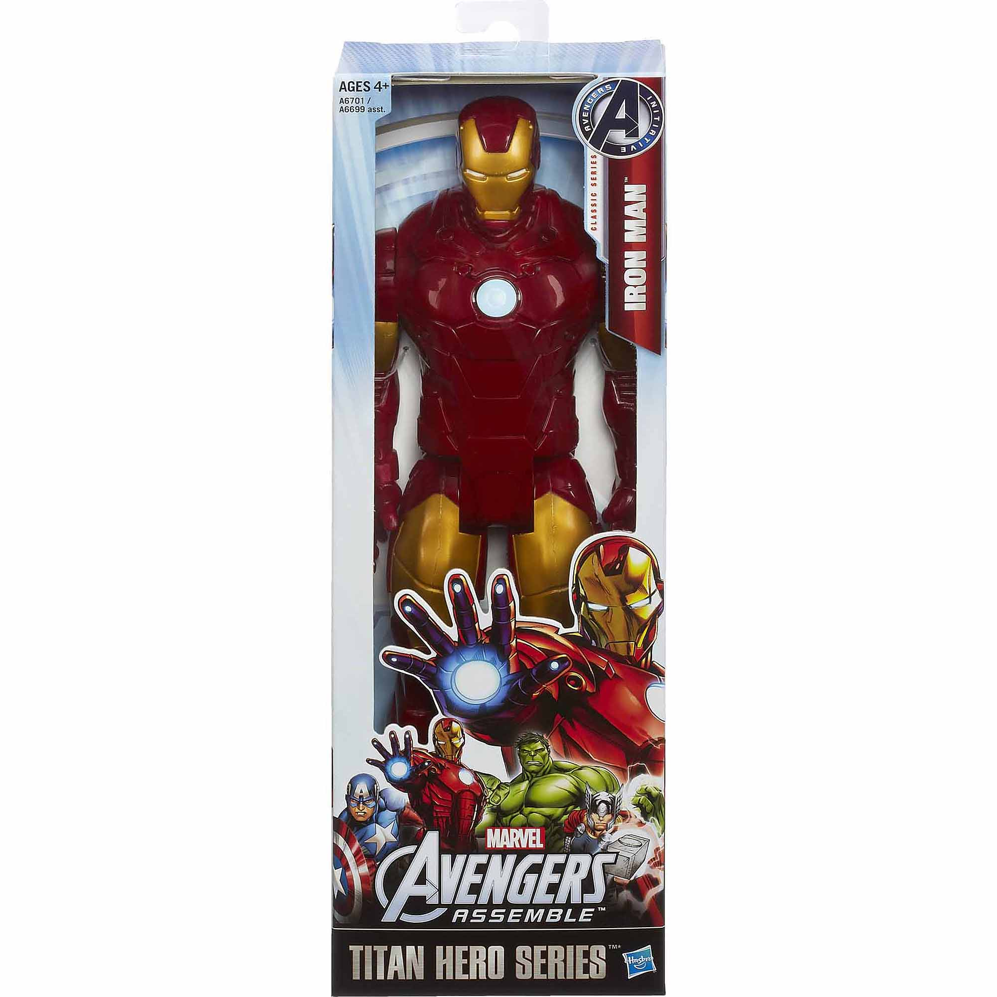 "Marvel Avengers Assemble Titan Hero Series Iron Man 12"" Figure"
