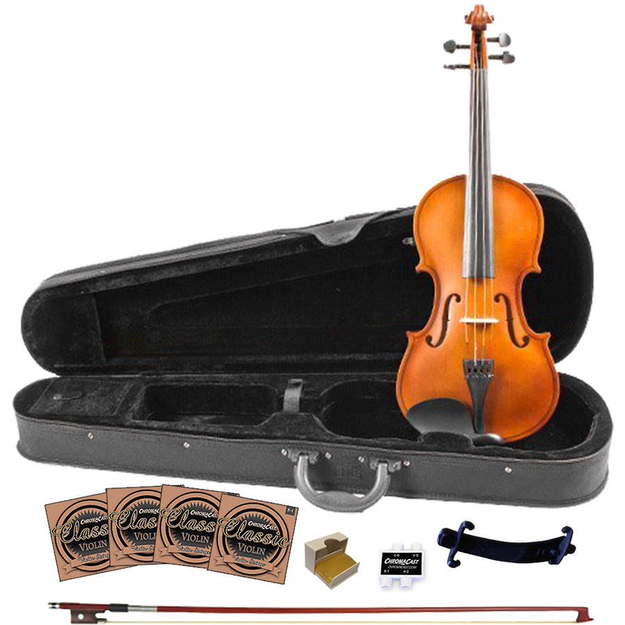 Rise by Sawtooth Full Size Beginner's Violin with Flame Maple Back