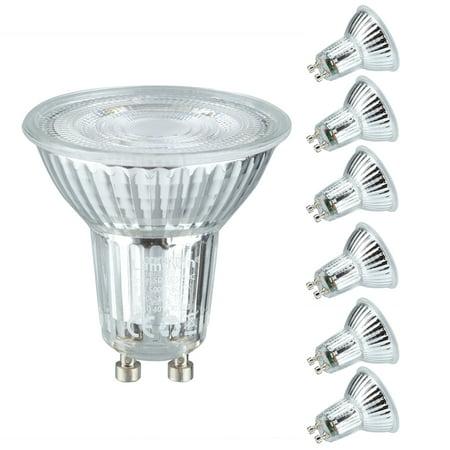 Lampwin LED Light Bulbs GU10 Base 5W (50W equivalent) AC 100-240V Spotlight with 500 Lumen 6000K Daylight Spotlight 40 Degree Beam Angle 6 Pack