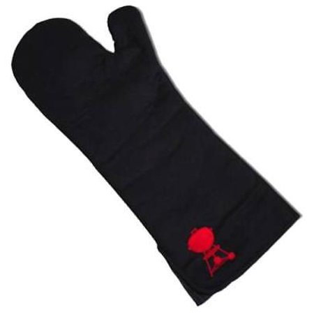 2PK Weber Black Barbecue Mitt 100% Cotton Heat Resistant & Comfortable ()
