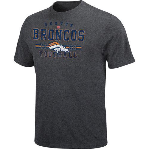 NFL - Denver Broncos Heathered Dark Grey Passing Game T-Shirt