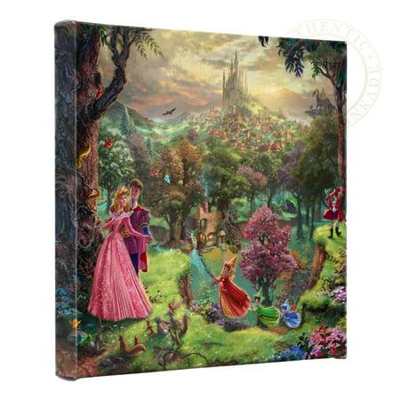 "Thomas Kinkade Sleeping Beauty - 14"" x 14"" Gallery Wrapped Canvas"