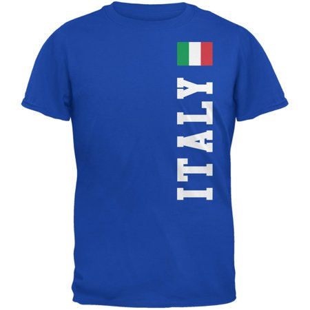 World Cup Italy Royal Adult T-Shirt 2006 Italy World Cup