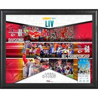 "Kansas City Chiefs Framed 16"" x 20"" Super Bowl LIV Champions Road to the Super Bowl Ticket Collage - Fanatics Authentic Certified"