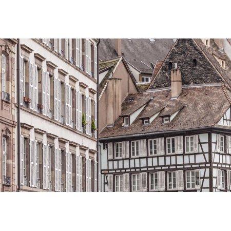 Old houses in La Petite France, Strasbourg, Bas Rhin, Alsace, France, Europe Print Wall Art By Julian (Old Bas Armagnac)
