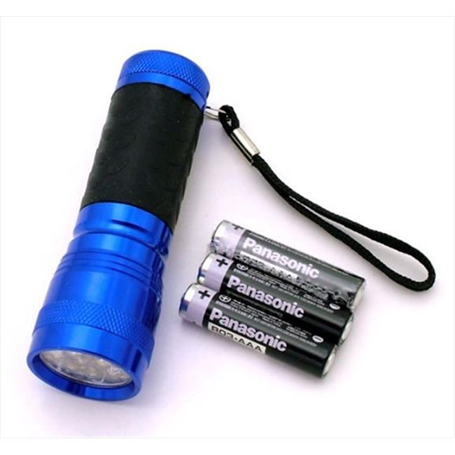 FL30714BL 14 Bulb LED Flashlight, Blue