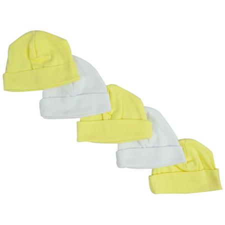 Yellow   White Baby Caps (Pack of 5) - Walmart.com 12f5a842e6c