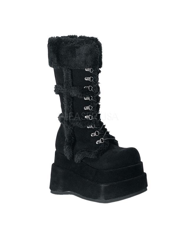 Click here to buy BEAR202 B PU Demonia Vegan Boots Womens BLACK Size: 12.
