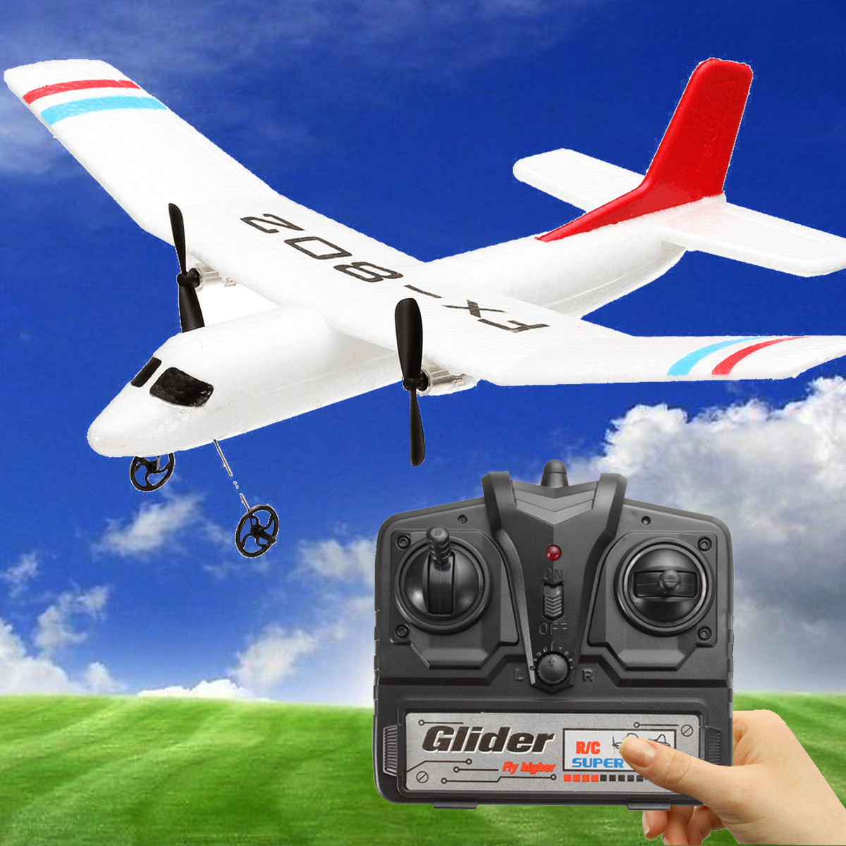Remote Control Airplane RC Model Airplane Model Sircraft Beginners RTF Flybear 802, Today Special Offer, Gift by