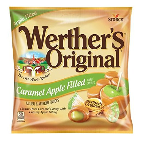 Werthers Caramel Apple Filled Hard Candies, 5.5 oz (Pack of 2)
