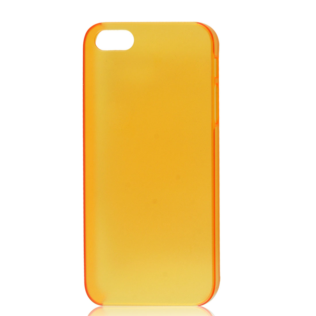 Slim Clear Orange Back Case Protective Cover for iPhone 5 5G - image 1 of 1
