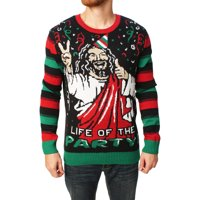 6f1109c75bf Product Image Ugly Christmas Sweater Men s Jesus Is The Life Of The Party  Sweater