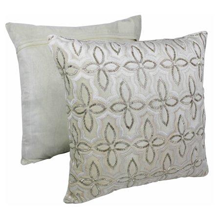 Moroccan Beaded Velvet Throw Pillow Set Of 2
