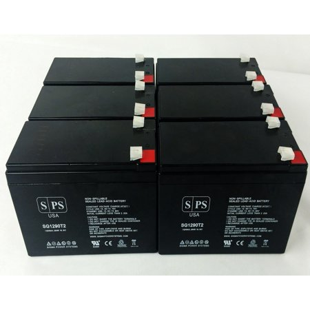 SPS Brand 12V 9Ah Replacement Battery for Digital Security BD 712 (Terminal T2) (6 Pack)