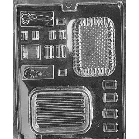 Grandmama's Goodies D042 Sewing Kit Pour Box Chocolate Candy Soap Mold with Exclusive Molding