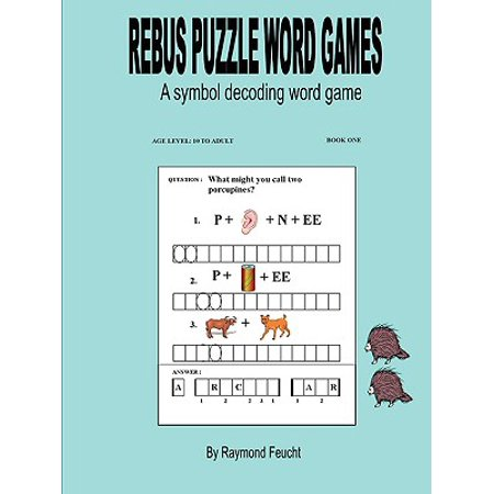 Rebus Puzzle Word Games ( Book One ) - Halloween Rebus