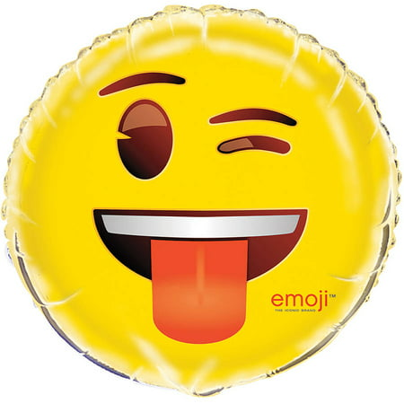 Foil Wink Emoji Balloon, 18 in, 1ct