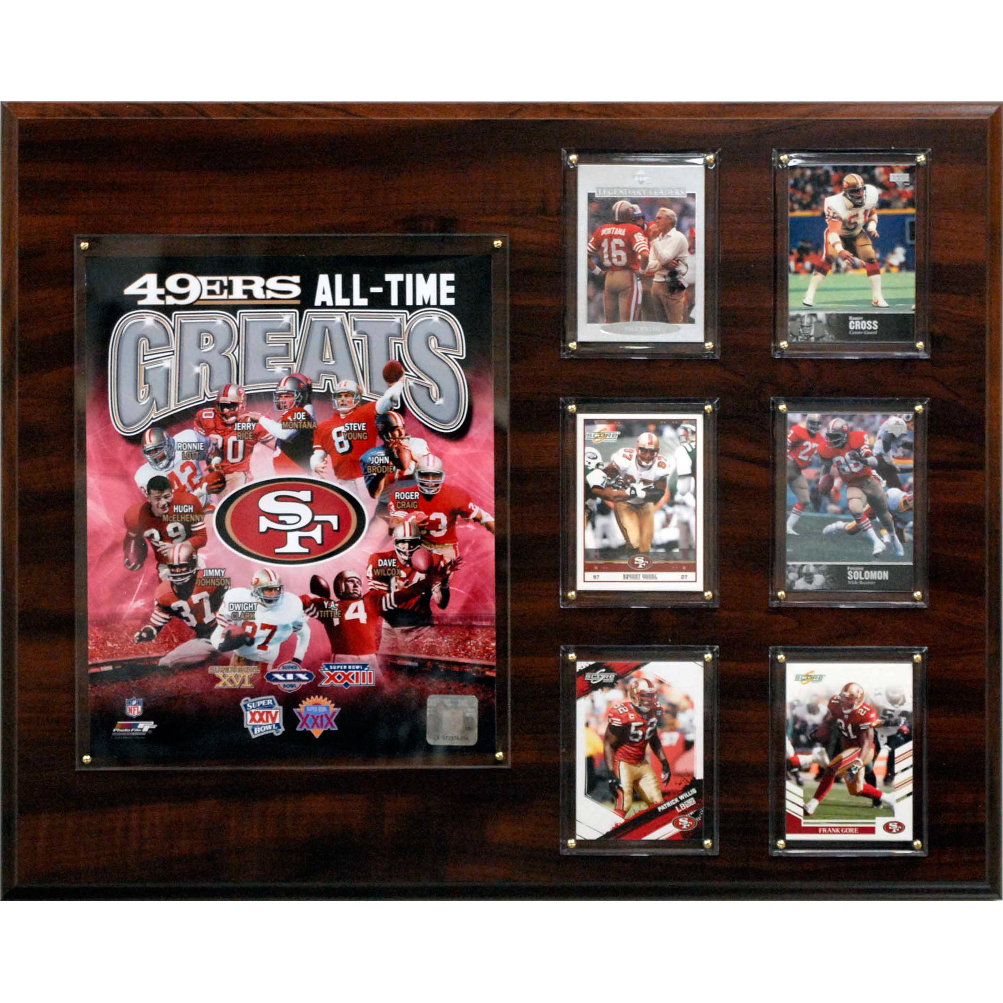 C&I Collectables NFL 16x20 San Francisco 49ers All-time Great Photo Plaque