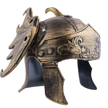 Roman Gladiator Helmet Dragon Wings Warrior Knight Armor Hat Greek Costume - Knight Costume Armor