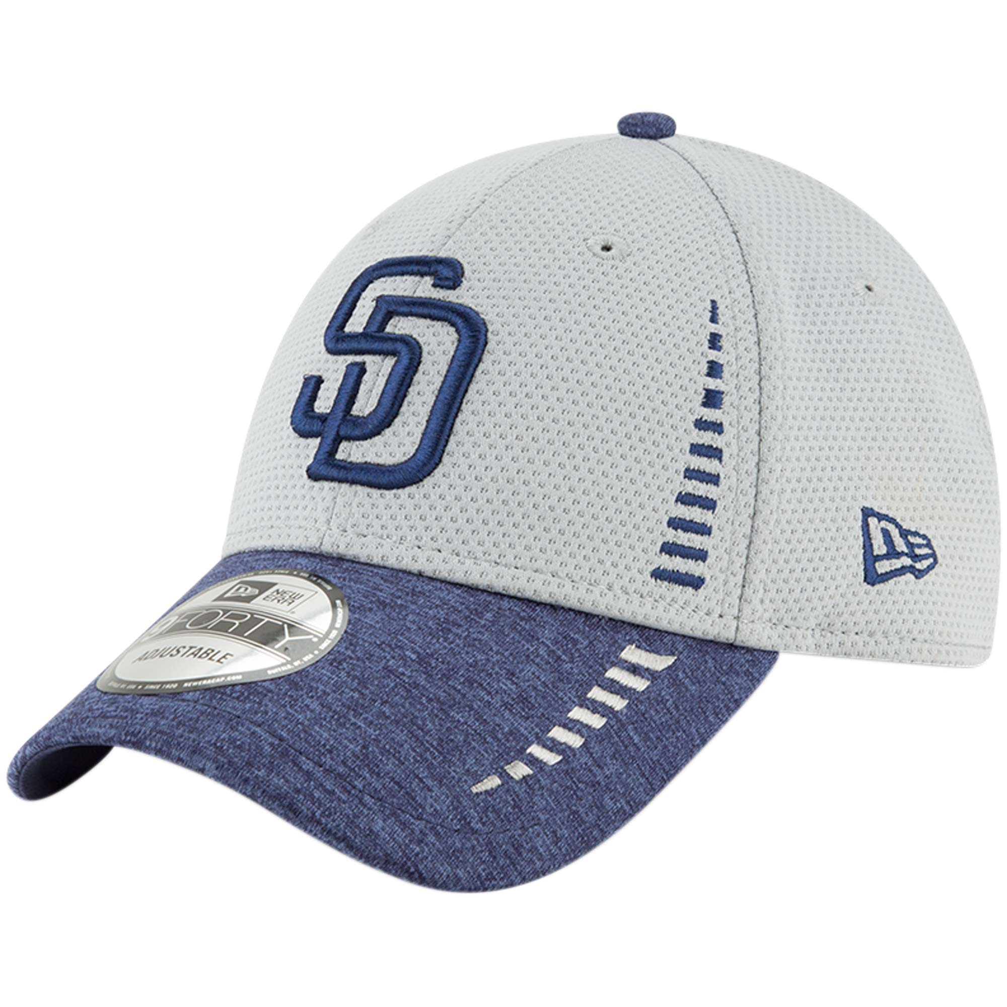 San Diego Padres New Era Speed Tech 9FORTY Adjustable Hat - Gray - OSFA