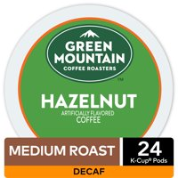 Green Mountain Coffee Hazelnut Decaf, Flavored K-Cup Pods, Light Roast, 24 Count For Keurig Brewers