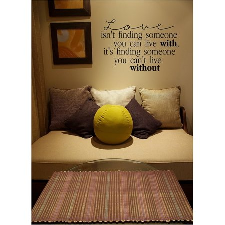 Love Isn't Finding Someone You Can Live With, It's Finding Someone You Can't Live Without Wall Decal Sticker (12.5