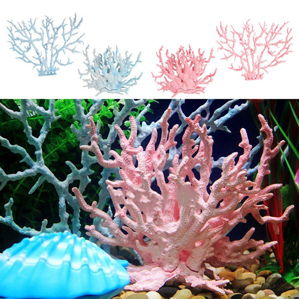 Heepo Plastic Simulation Fish Tank Artificial Aquarium Reef Coral Decor Ornaments