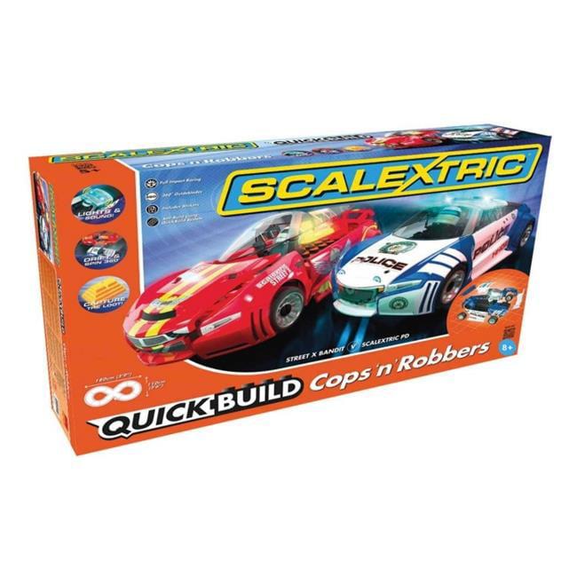 Scalextric Quickbuild Cops N Robbers 1:32 Slot Car Race T...