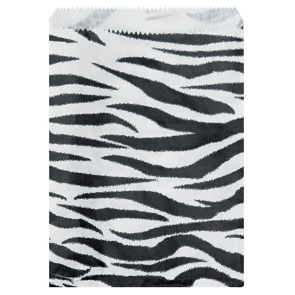 "- 200 pcs Zebra Print Paper Gift Bags Shopping Sales Tote Bags (4"" x 6""), 888 Display USA bags can be used at gift shops, craft shops, jewelry stores, or anywhere.., By 888 Display USA"