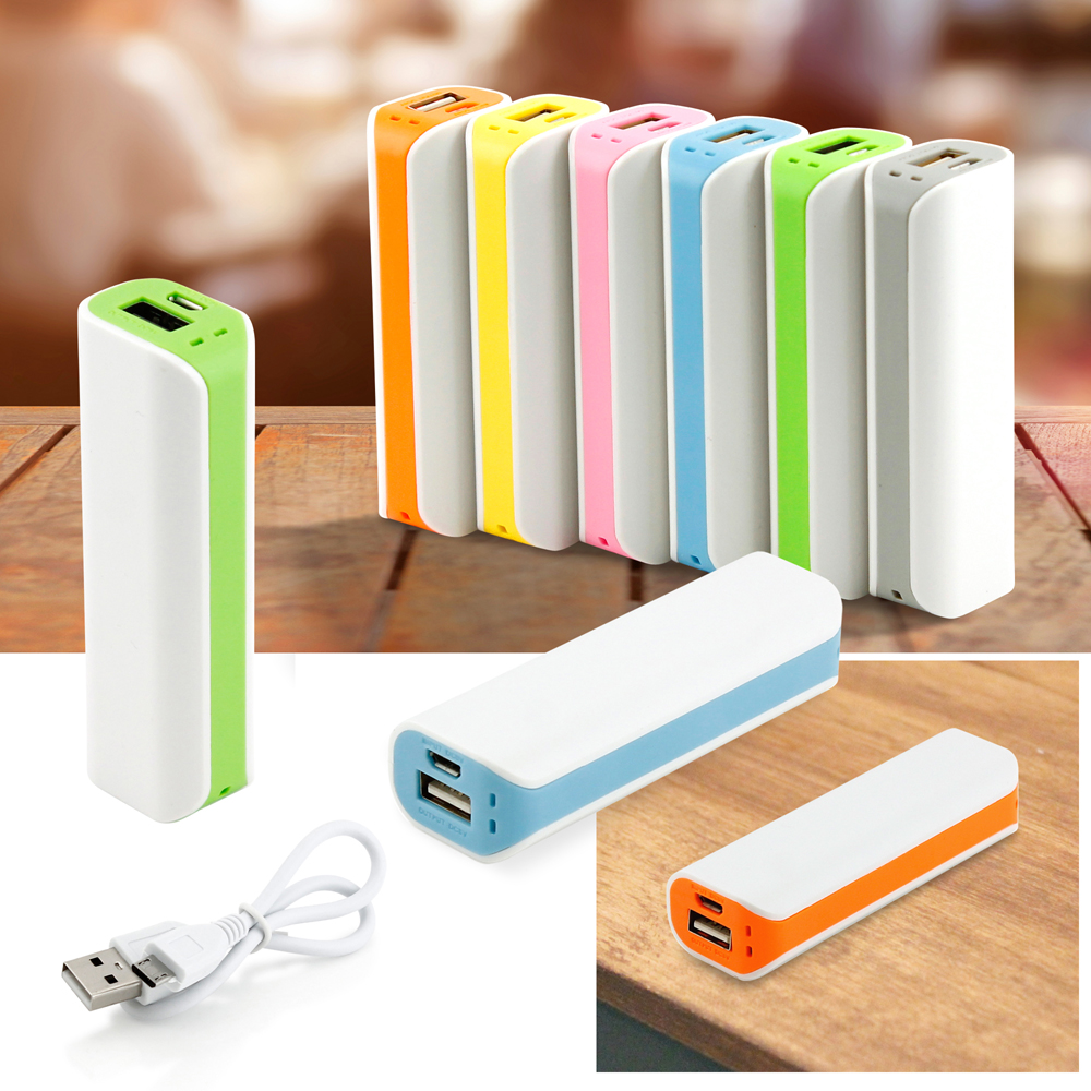 2600mAh Dual Color Universal Backup Portable External Battery USB Power Bank Charger for Mobile Cell Phone iPhone - Yellow