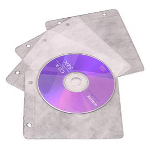 Inland Pro EZ CD/DVD Sleeves, 50-Pack