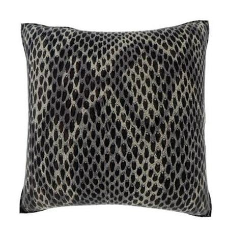 Velour Throw Pillows : Custom Photo Factory Black Snakeskin 18-inch Velour Throw Pillow - Walmart.com