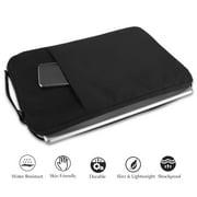 Otter Logo Pattern 13-15 Inch Laptop Sleeve Bag Portable Dual Zipper Case Cover Pouch Holder Pocket Tablet Bag,Water Resistant,Black