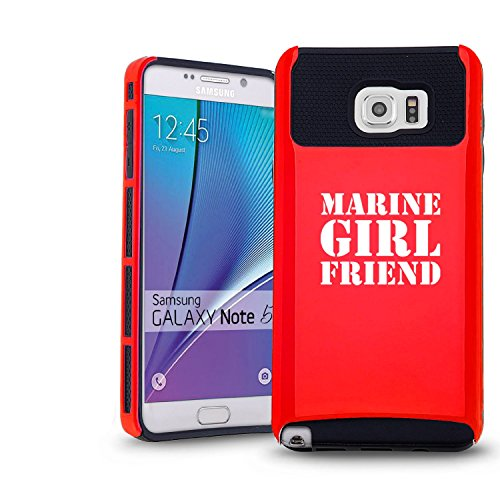 Samsung Galaxy Note 5 Shockproof Impact Hard Case Cover Marine Girlfriend (Red-Black),MIP
