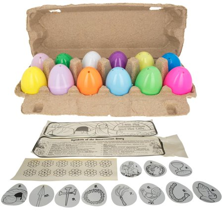 Resurrection Story 12 Plastic Easter Eggs Craft Kit