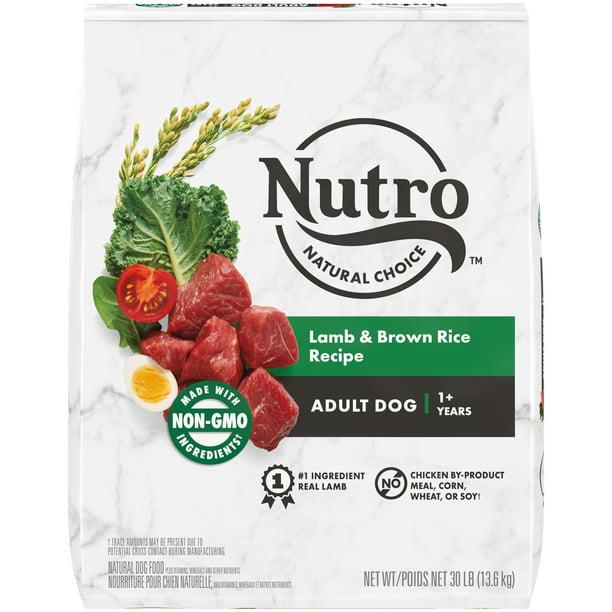 NUTRO WHOLESOME ESSENTIALS Natural Adult Dry Dog Food Lamb & Rice Recipe, 30 lb. Bag