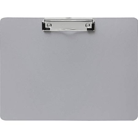 Business Source BSN49266 Landscape Plastic Clipboard - Sliver - 0.1 x 9 x 12.2 in. for $<!---->
