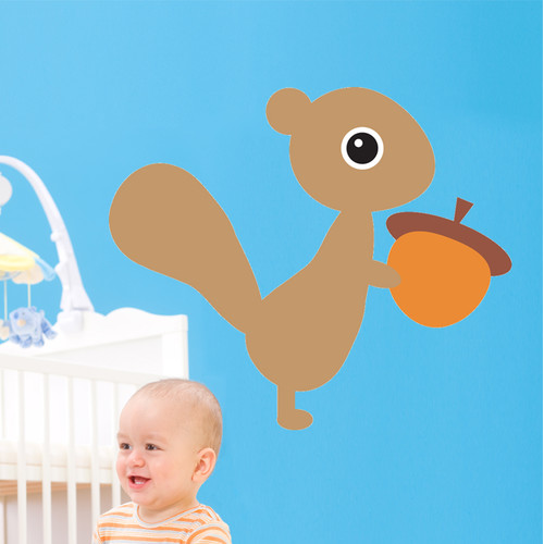Wallhogs Bui Squirrel Cutout Wall Decal
