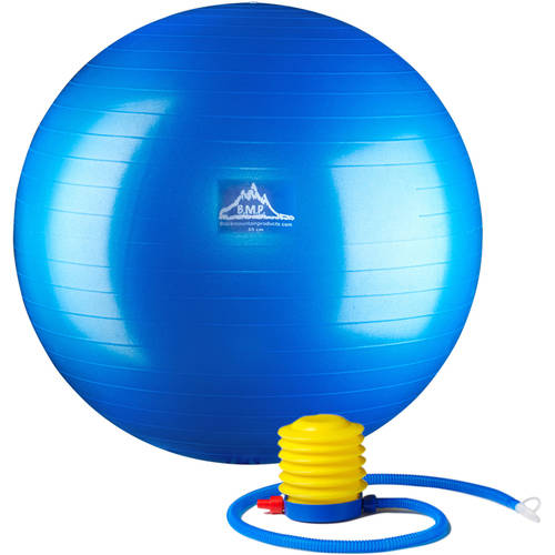 Black Mountain Products Professional-Grade Stability Ball, Pro Series, 1000 lb (Anti-Burst), 2000 lb (Static Weight) Capacity