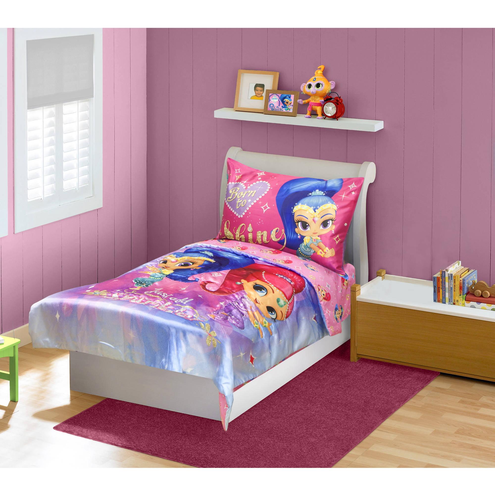 Shimmer Amp Shine 4 Piece Toddler Bedding Set Walmart Com