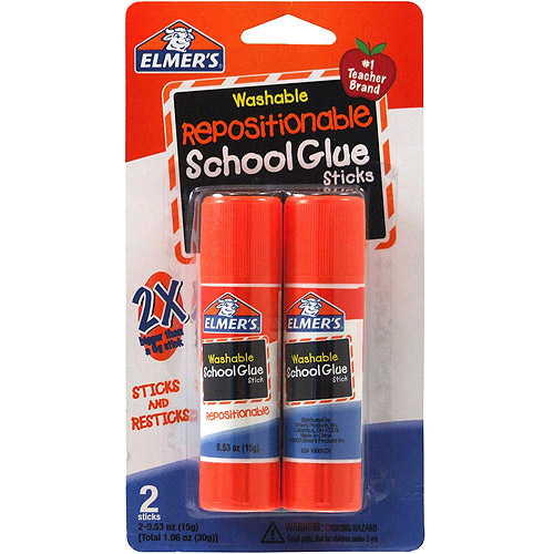 Elmer's Repositionable School Glue Sticks, 2pk, .53 oz