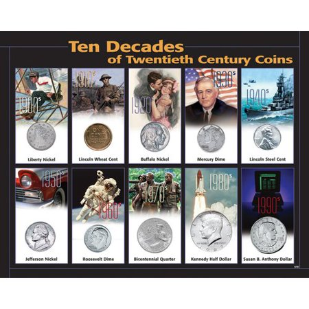 American Coin Treasures 10 Decades 20th Century Framed Memorabilia