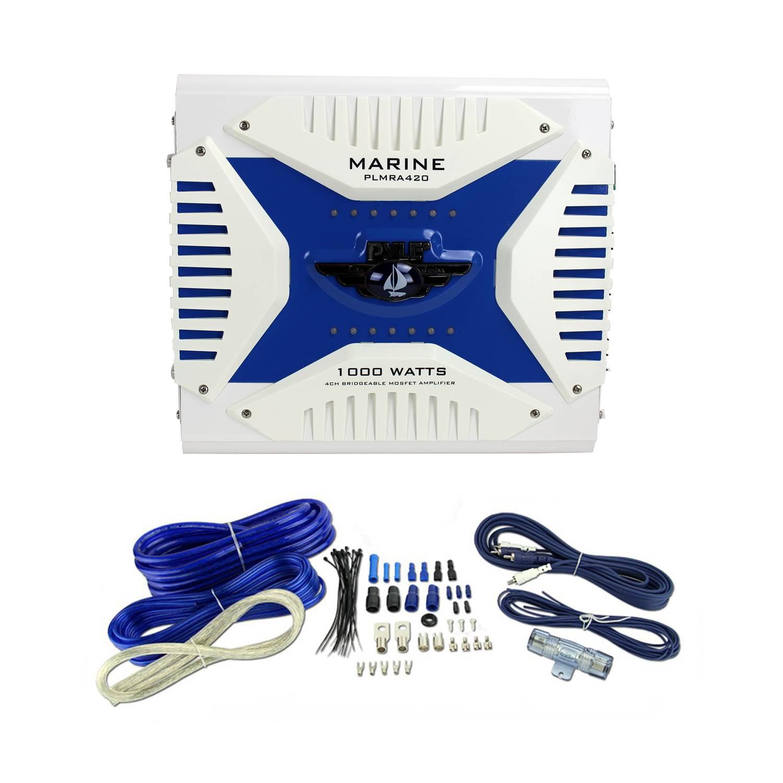Pyle 1000W 4-Channel Marine Amplifier + VM Audio 4-Gauge Amplifier Wiring  Kit - Walmart.com - Walmart.com