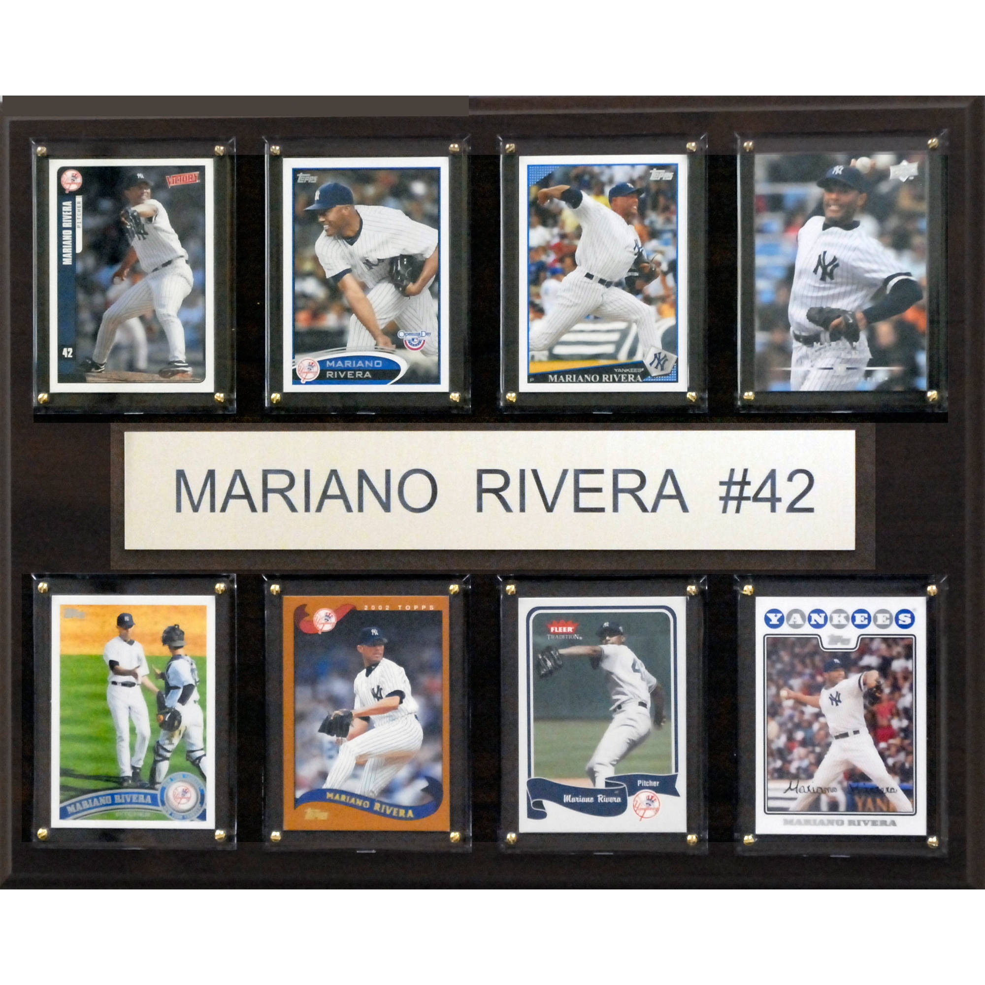 C&I Collectables MLB 12x15 Mariano Rivera New York Yankees 8-Card Plaque